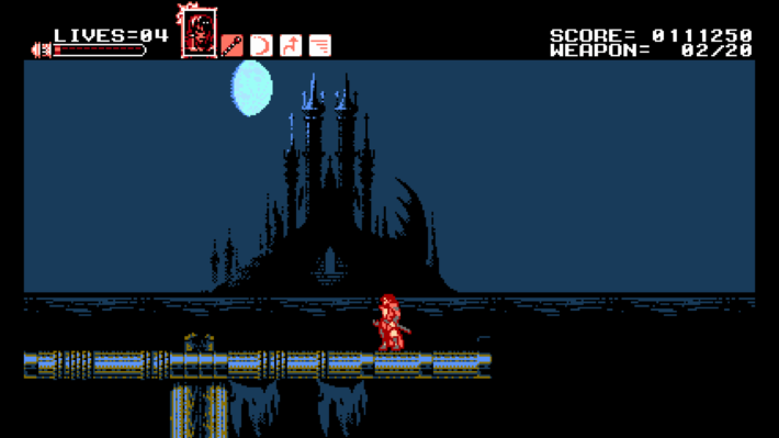 bloodstained curse of the moon screenshot met kasteel in beeld