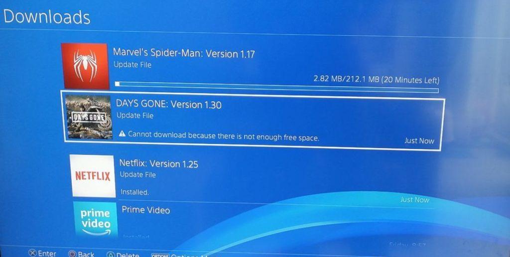 ps4 update schijfruimte issues zijn irritant