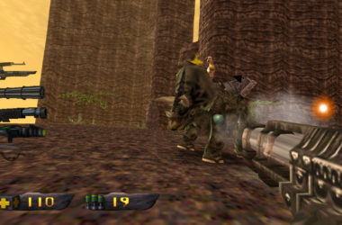 turok triceratops geweer gun fight screenshot