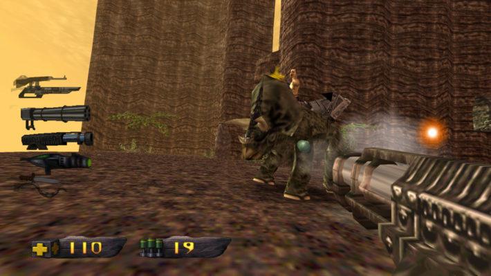turok triceratops geweer gun fight screenshot