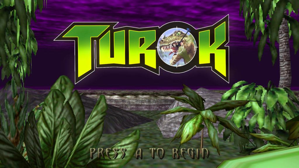 turok startscherm screenshot logo