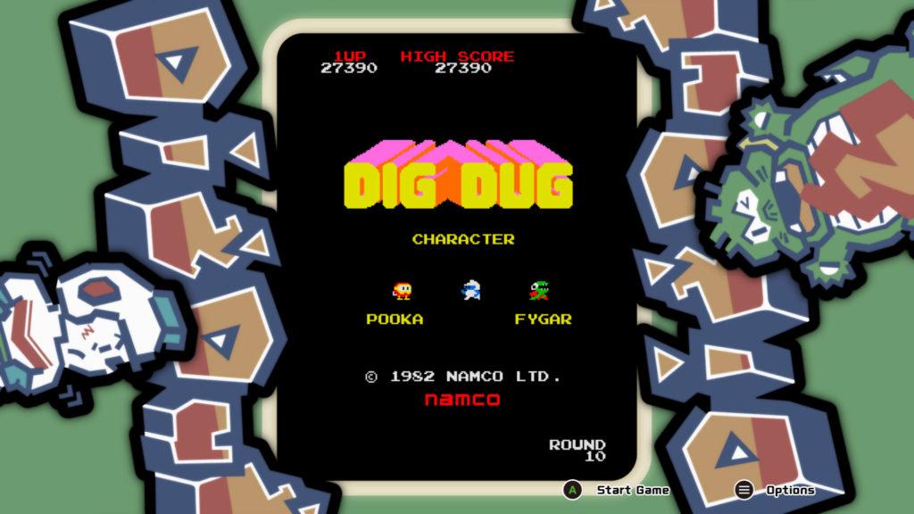 dig-dug startscherm