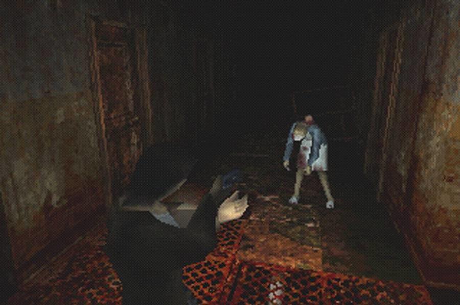 screenshot silent hill harry schiet op zuster