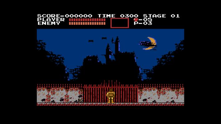 castlevania kasteel opening scherm
