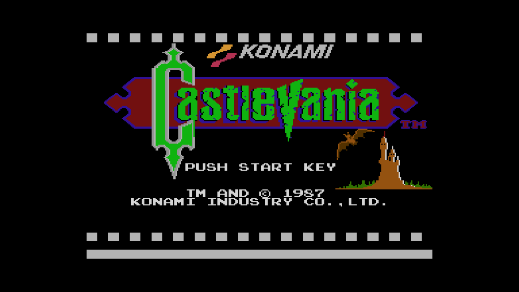 castlevania NES startscherm