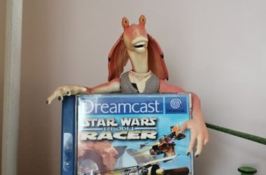 jar jar met een star wars dreamcast game