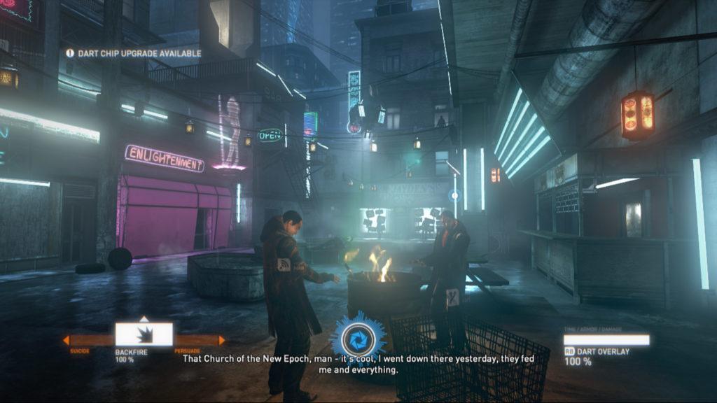 sci-fi cyberpunk wereld
