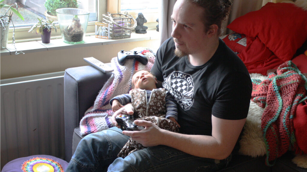 gamen met een baby deed Retrogamepapa 5 jaar terug ook al