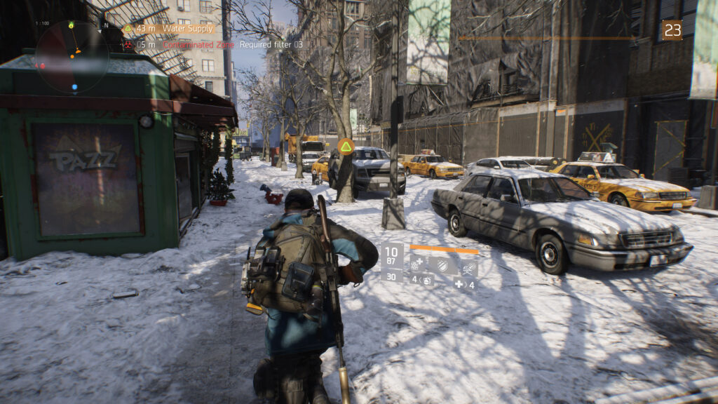the division screenshot verlaten sneeuwlandschap new york