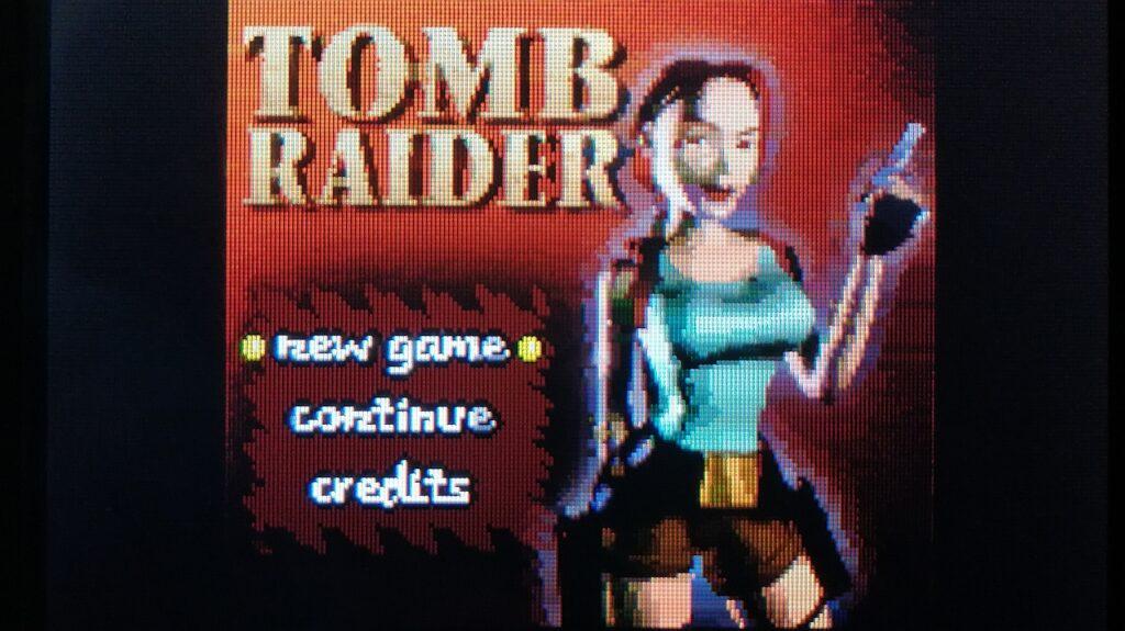 startscherm tomb raider gameboy color