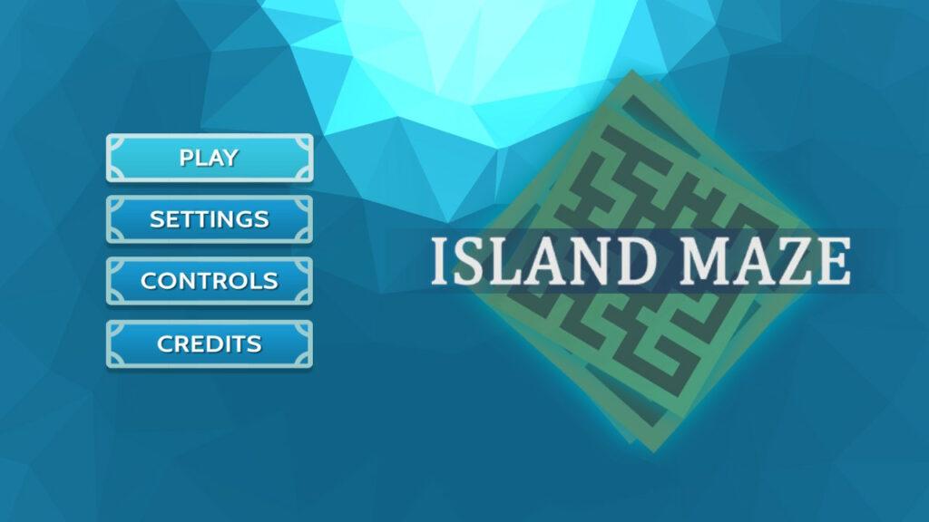 Island maze logo startscherm