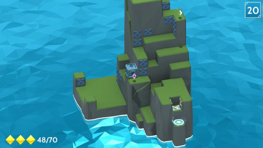 island maze shot van moeilijke puzzel