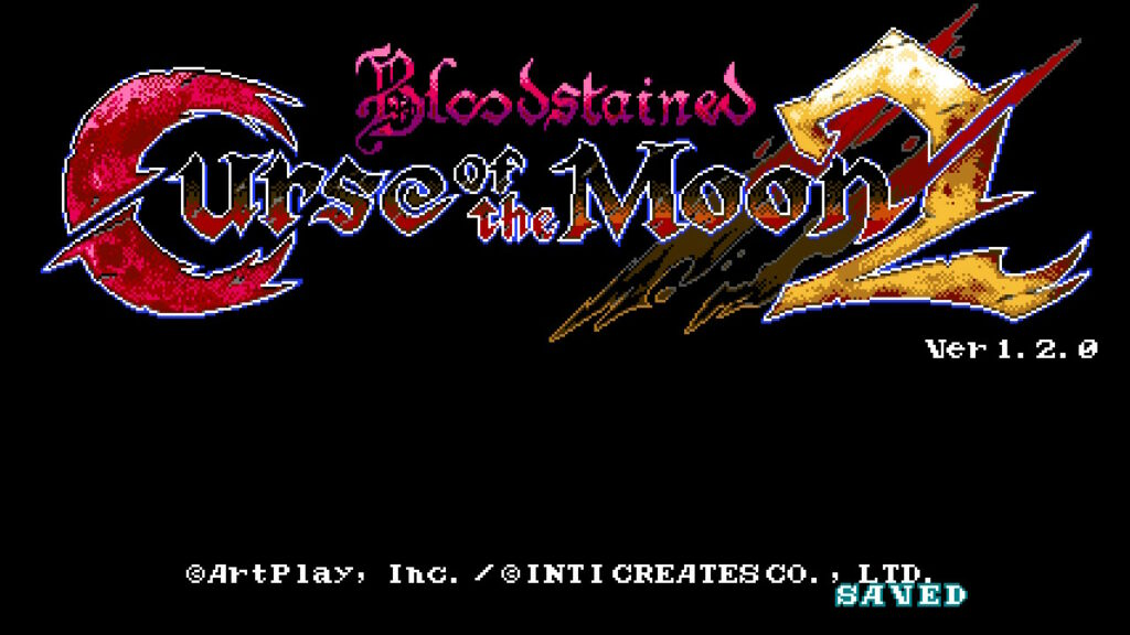 bloodstained: curse of the moon 2 startscherm