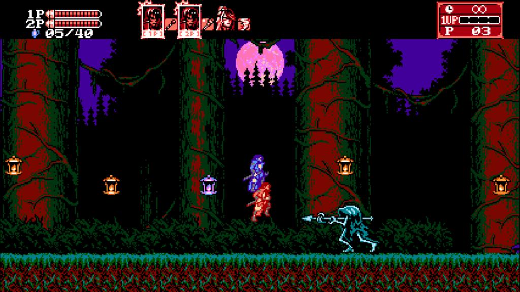 2-player met zangetsu in rood en blauw