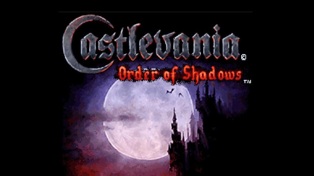 castlevania order of shadows logo startscherm