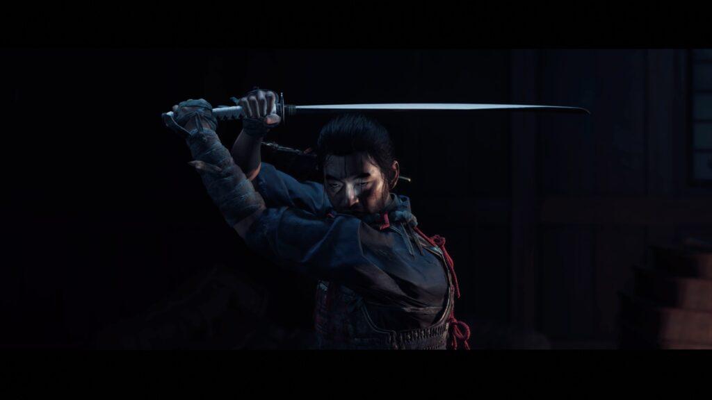 ghost of tsushima screenshot jin met katana
