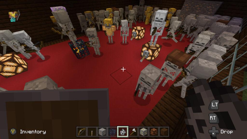 minecraft spelen wat zoontje Wolf heeft gebouwd