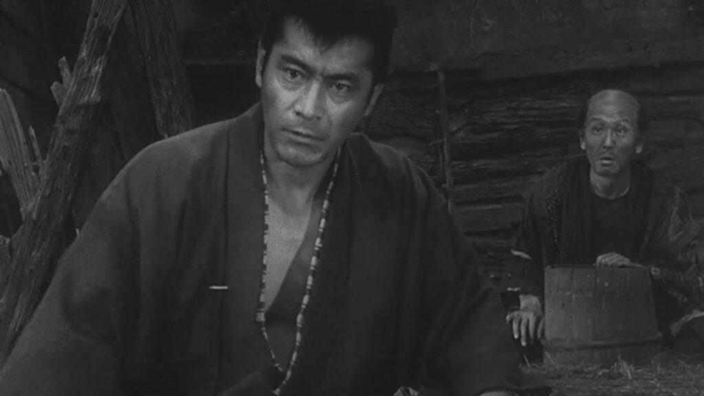 toshiro mifune in akira kurosawa film shot
