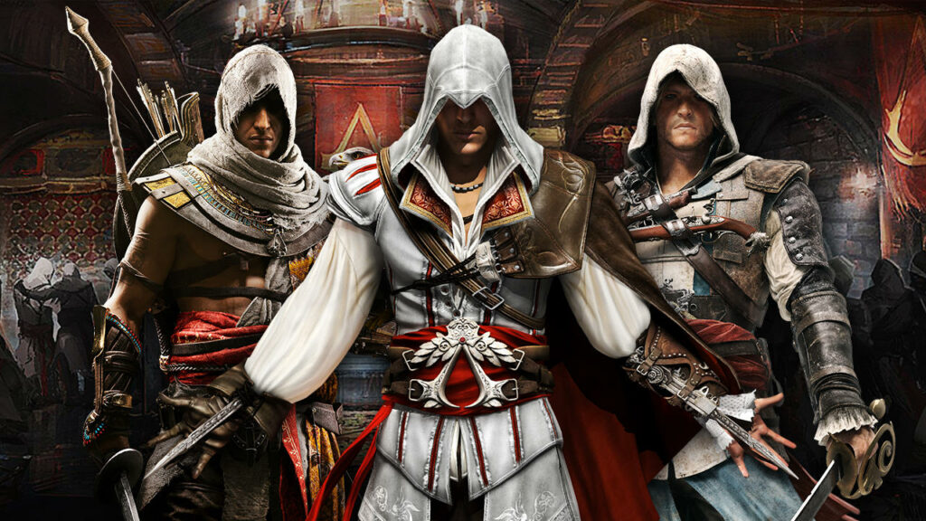 verschillende hoofdpersonages assassin's creed
