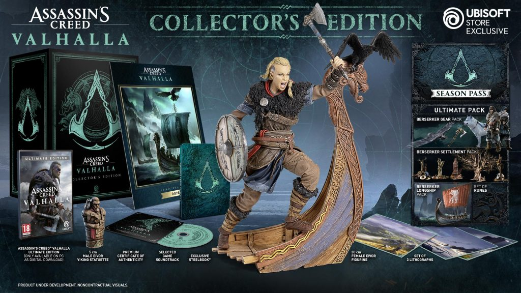 AC valhalla collector's edition met vrouw figurine