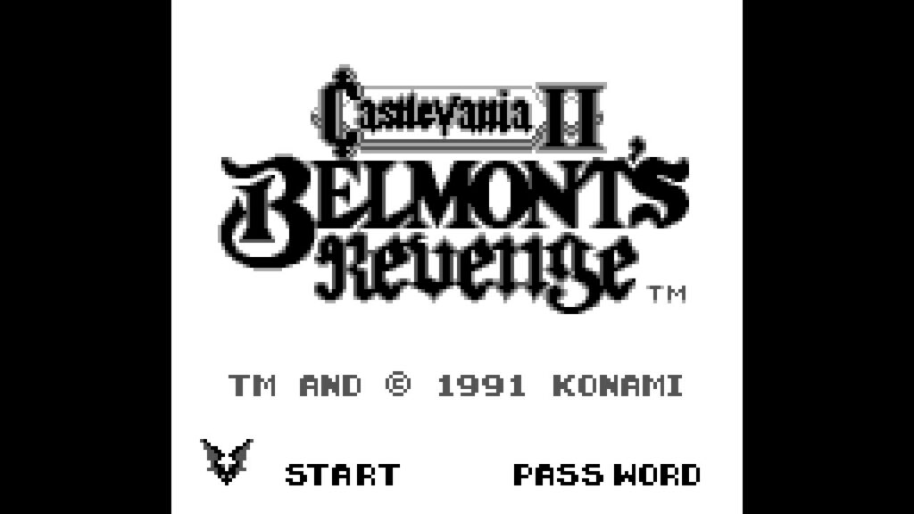Castlevania II: Belmont's Revenge startscherm logo