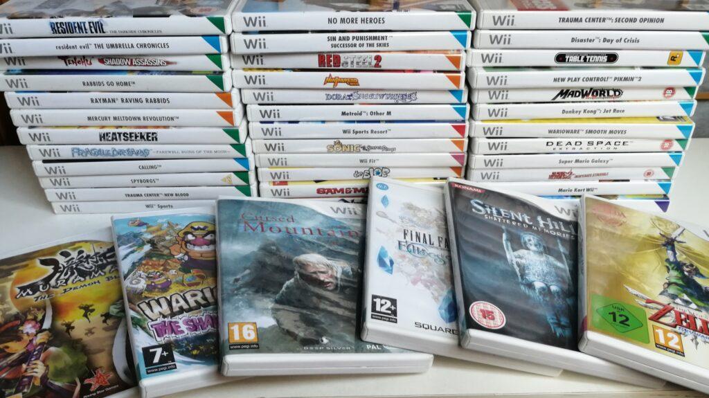 verzameling Wii games