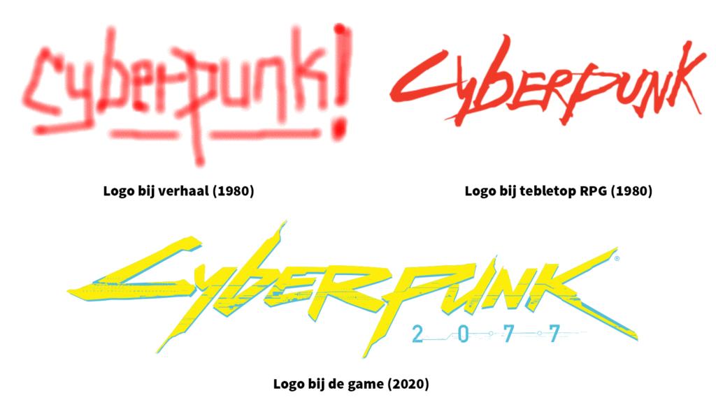 cyberpunk logos evolutie gemaakt door retrogamepapa
