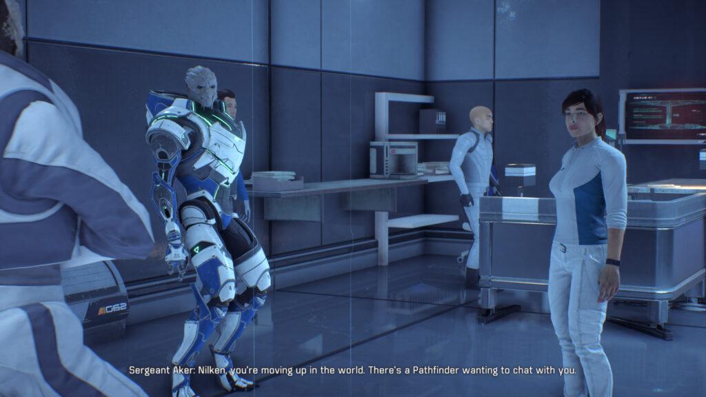 characters praten met sara ryder screenshot retrogamepapa