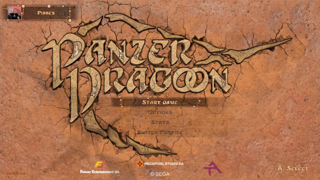 panzer dragoon: remake titelscherm screenshot retrogamepapa