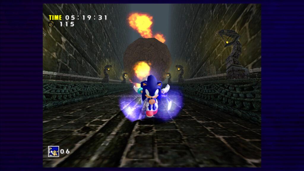 sonic going fast screenshot retrogamepapa