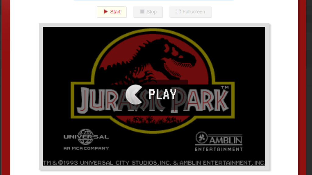 bestoldgames screenshot met jurassic park retrogamepapa