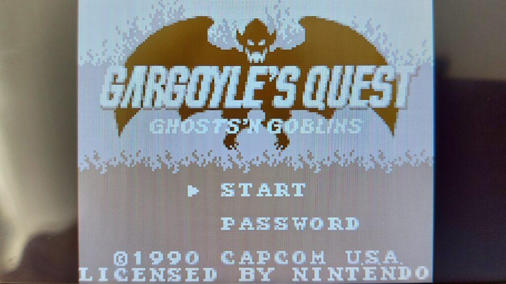 gargoyle's quest screenshot main screen logo retrogamepapa