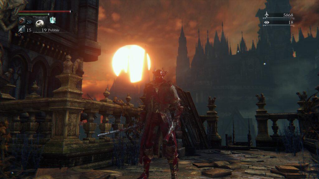 sunset in Bloodborne