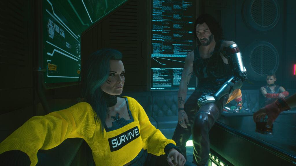 johnny silverhand en rogue cyberpunk 2077 retrogamepapa
