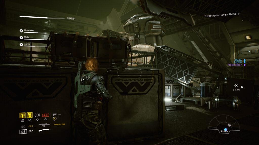 aliens fireteam elite weyland-yutani logo screenshot retrogamepapa