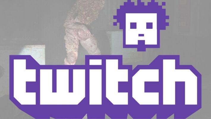 gamers zien gamen twitch logo met retrogamepapa logo